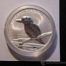 Monedas antiguas de Oceanía: AUSTRALIA 1 DOLAR 2007 - KOOKABURRA - 1 ONZA PLATA PURA. Lote 30938308