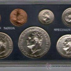 Monedas antiguas de Oceanía: WESTERN SAMOA---------ESTUCHE 1974------------SPECIMEN. Lote 31250860