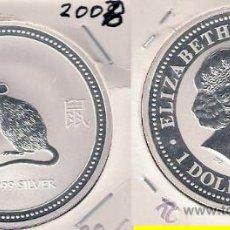 Monedas antiguas de Oceanía: ME499-AUSTRALIA. DÓLAR. 2008. PLATA. PROOF. (HORÓSCOPO CHINO, AÑO DE LA RATA).. Lote 33238125