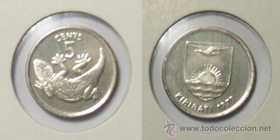 KM# 3 - KIRIBATI - 5 CENT - 1979 - (SIN CIRCULAR) (Numismática - Extranjeras - Oceanía)