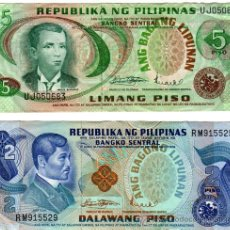 Monedas antiguas de Oceanía: 2 BILLETES DE FILIPINAS, . Lote 36193398