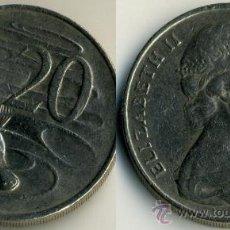 Monedas antiguas de Oceanía: AUSTRALIA 20 CENTAVOS 1981 FAUNA ORNITORRINCO. Lote 36903943