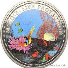 Monedas antiguas de Oceanía: PALAU 1 DOLAR 1994 CON UN FONDO MARINO. Lote 248931890