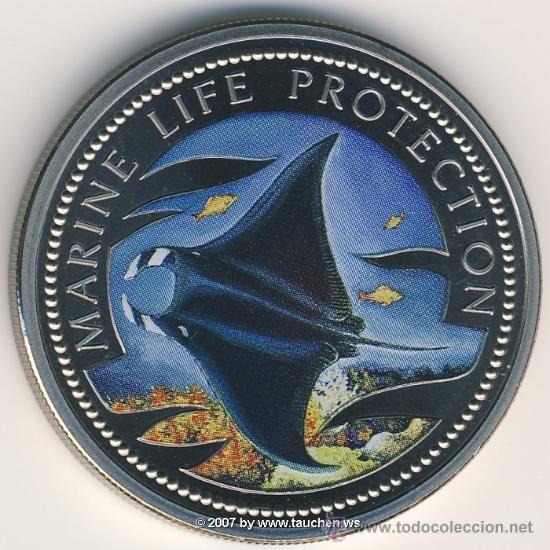 PALAU 1 DOLAR 1999 PEZ MANTA (Numismática - Extranjeras - Oceanía)