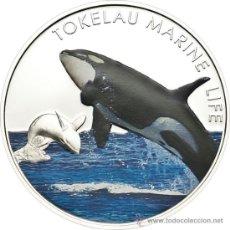Monedas antiguas de Oceanía: TOKELAU 5 DOLARES 2012 ORCA. Lote 49405702