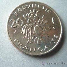 Monedas antiguas de Oceanía: MONEDA DE FRANCIA-POLYNESIE-2 FRANCOS-1970-29 MM-PERFECTA. Lote 37847589