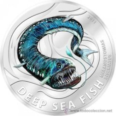 Monedas antiguas de Oceanía: PITCAIRN IS. 2 DOLARES 2011 PEZ ABISAL EN COLOR. Lote 38510102