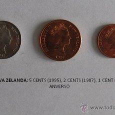 Monedas antiguas de Oceanía: MONEDAS DE NUEVA ZELANDA: 5 CENTS (1995), 2 CENTS (1987)1 CENT (1987). Lote 39317002