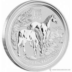 Monedas antiguas de Oceanía: AUSTRALIA 1$ 2014 SERIE LUNAR II CABALLO, ONZA DE PLATA PURA. Lote 221388288