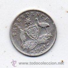 Monedas antiguas de Oceanía: AUSTRALIA. 3 PENIQUES. AÑO 1921. PLATA.. Lote 40993713