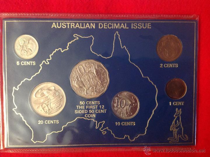 ESTUCHE CON LAS MONEDAS QUE SE ACUÑARON PARA AUSTRALIA, 1980, S/C. (Numismática - Extranjeras - Oceanía)
