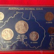 Monedas antiguas de Oceanía: ESTUCHE CON LAS MONEDAS QUE SE ACUÑARON PARA AUSTRALIA, 1980, S/C.. Lote 41246512