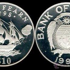 Monedas antiguas de Oceanía: NAURU 10 DOLARES 1994 JOHN FEARN 1798. Lote 41686530