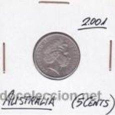 Monedas antiguas de Oceanía: AUSTRALIA 5 CENTS 2001. Lote 42207707