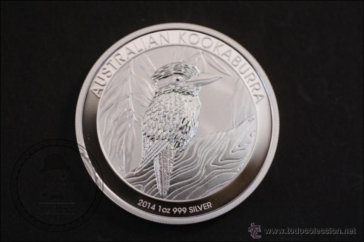 MONEDA DE AUSTRALIA - KOOKABURRA - PLATA 999 MILÉSIMAS - 2014 - 1 DOLLAR - CONSERVACIÓN MBC+ (Numismática - Extranjeras - Oceanía)