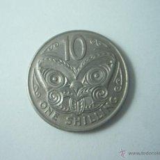 Monedas antiguas de Oceanía: MONEDA-NEW ZEALAND(NUEVA ZELANDA)-ONE SHILLING-1969-BUEN ESTADO-.. Lote 42692960