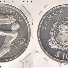 Monedas antiguas de Oceanía: MONEDA DE 10 TALA DE SAMOA I SISIFO DE 1992. PLATA. PROOF. JUEGOS OLÍMPICOS 1992. (ME1158).. Lote 43667369
