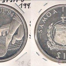 Monedas antiguas de Oceanía: MONEDA DE 10 TALA DE SAMOA I SISIFO DE 1992. PLATA. PROOF. COPA DEL MUNDO DE FÚTBOL 1994. (ME1159).. Lote 43667555