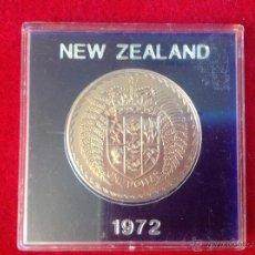 Monedas antiguas de Oceanía: MONEDA DE UN DÓLAR DE NUEVA ZELANDA, 1972 EN SU ESTUCHE EXPOSITOR ORIGINAL.. Lote 43948019