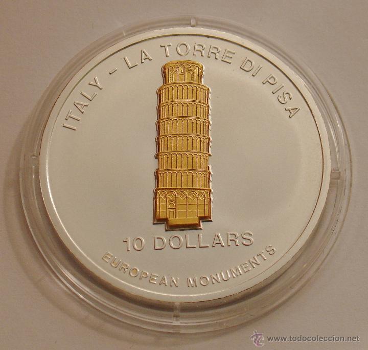 NAURU 10 DOLARES 2005 TORRE DE PISA (Numismática - Extranjeras - Oceanía)
