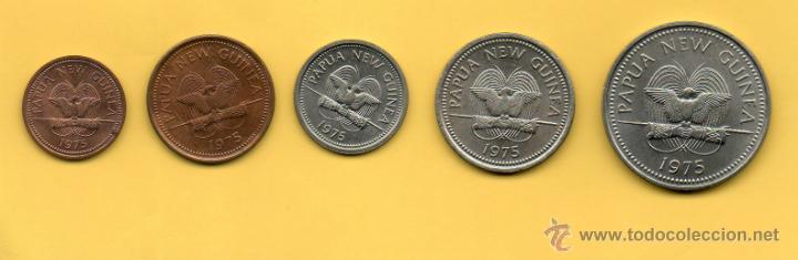 MM SERIE PAPUA NEW GUINEA. PAPUA NUEVA GUINEA. AÑO 1975. SERIE SIN CIRCULAR. PRECIOSA. (Numismática - Extranjeras - Oceanía)