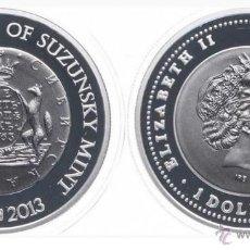 Monedas antiguas de Oceanía: NIUE ISLAND: 1 DOLLAR 2013 SILVER CECA DE SIBERIA SUZUNSKY MINT 250 TH ANNIVERSARY **NUMISBUR***. Lote 44761381