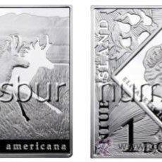 Monedas antiguas de Oceanía: ISLAS NIUE :1 DOLAR PLATA 2010 ANTILOCAPRA AMERICANA *NUMISBUR*. Lote 45004433