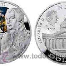 Monedas antiguas de Oceanía: ISLAS NIUE: 1 DOLAR PLATA 2010 MIKHAIL KUTUZOV - SERIE LIDERES *NUMISBUR**. Lote 45052997