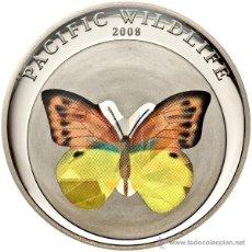 Monedas antiguas de Oceanía: PALAU 1 DOLAR 2008 MARIPOSA CAMBIA DE COLOR. Lote 45638622