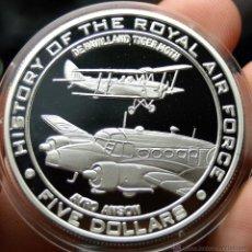 Monedas antiguas de Oceanía: NAURU 5 DOLARES 2008 AVRO ANSON. Lote 48165806