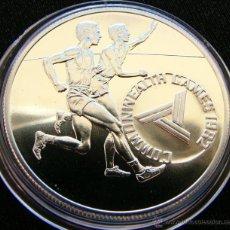 Monedas antiguas de Oceanía: TONGA 10 PA'ANGA 1982 ATLETISMO - MINT 500 PIEZAS. Lote 49057984