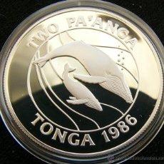 Monedas antiguas de Oceanía: TONGA 2 PA'ANGA 1986 BALLENAS. Lote 49058000