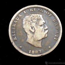 Monedas antiguas de Oceanía: HAWAII 1/4 DOLAR 1883. Lote 115695886