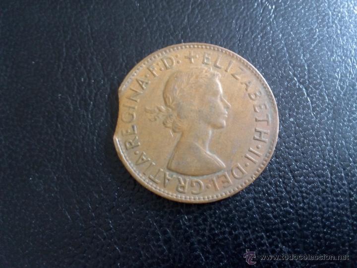 Monedas antiguas de Oceanía: A317 - Australia 1 penique 1961 ¿con error? - Foto 2 - 50683156