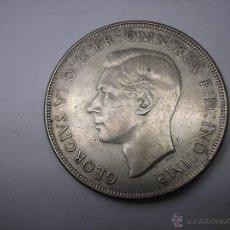Monedas antiguas de Oceanía: AUSTRALIA, 1 CORONA DE PLATA DE 1937, REY JORGE V. Lote 52540156
