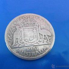 Monedas antiguas de Oceanía: AªMONEDA-AUSTRALIA-JORGE VI-1951-FLORÍN-PLATA-29 MM.D-VER FOTOS.. Lote 42421179