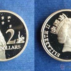 Monedas antiguas de Oceanía: 2 DOS DÓLARES DOLLARS AUSTRALIANOS AUSTRALIA 1988 ISABEL ELIZABETH II PROOF. Lote 54590944