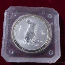 Monedas antiguas de Oceanía: 50 CENTS 1999 AUSTRALIA - 1ª SERIE LUNAR AÑO DEL CONEJO. Lote 55018002