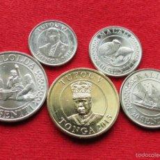 Monedas antiguas de Oceanía: TONGA SERIE 5 10 20 50 S 1 P 2015 UNC. Lote 195154040