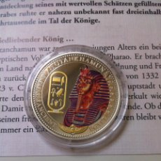 Monedas antiguas de Oceanía: ISLAS SALOMÓN 2 DOLARES PLATA 0.925 2014 MONEDA COLOREADA ANTIGUO EGIPTO FLOR DE CUÑO TUTANKHAMUN. Lote 56492037