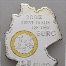 Monedas antiguas de Oceanía: NAURU 10 DOLARES 2002 CONMEMORATIVA AL €URO. Lote 56996066