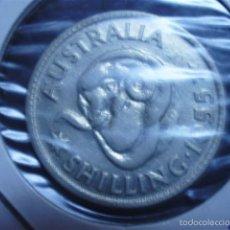 Monedas antiguas de Oceanía: SHILLING DE PLATA DE AUSTRALIA DE 1955. Lote 59993355