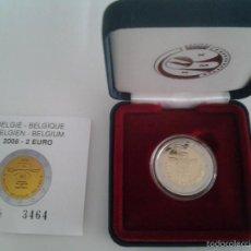 Monedas antiguas de Oceanía: ESTUCHE 2 EUROS BÉLGICA 2008 PROOF, 60 ANIVERSARIO DECLARACIÓN DERECHOS HUMANOS. Lote 60872903