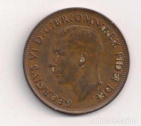 Monedas antiguas de Oceanía: Australia - 1 penny 1949 - Km#43 - Foto 2 - 62218752