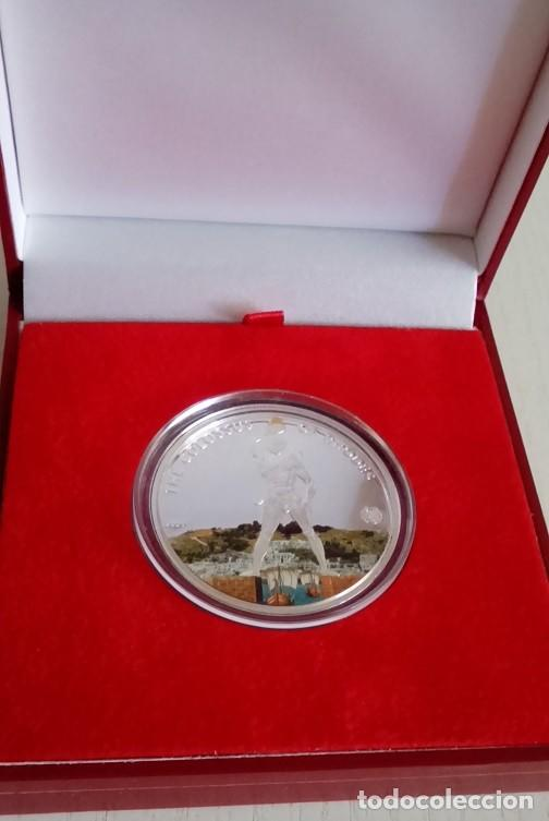 Monedas antiguas de Oceanía: PRECIOSA MONEDA DE PLATA DEL COLOSO DE RODAS DE LA COLECCION DE LAS 7 MARAVILLAS DEL MUNDO - Foto 3 - 62426880