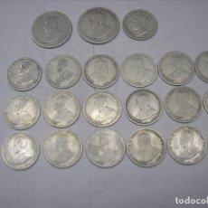 Monedas antiguas de Oceanía: AUSTRALIA, 2 MONEDAS DE TWO SHILLINGS 1913-1917 + 19 DE ONE SHILLINGS . TODAS DE PLATA. Lote 70303969