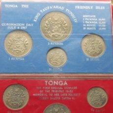 Monedas antiguas de Oceanía: TONGA 2 SERIES 1967 TUPOU III + IV. 1 2 5 10 20 50 SENTI 1 2 PAANGA. Lote 70320405