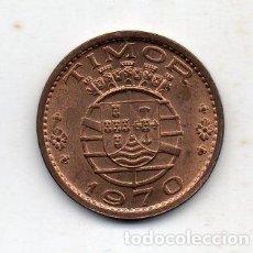 Monedas antiguas de Oceanía: TIMOR. 1 ESCUDO. COBRE. AÑO 1970. SIN CIRCULAR.. Lote 81563728