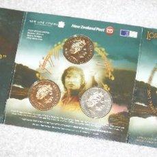 Monedas antiguas de Oceanía: SET NUEVA ZELANDA 2003 3X1 DÓLAR EL SEÑOR DE LOS ANILLOS. Lote 83072932