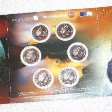 Monedas antiguas de Oceanía: SET NUEVA ZELANDA 2003 6X50 CENTS EL SEÑOR DE LOS ANILLOS. Lote 83073000